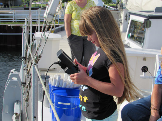 Girl controlling ROV