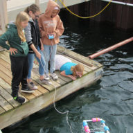 Students testing their ROV in the Great Lakes