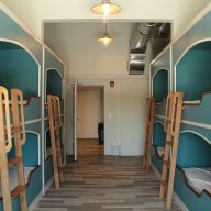 bunk beds in dorm room