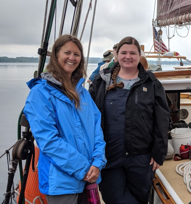 ladies on ship