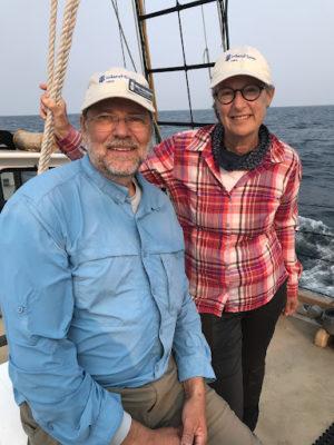 volunteers on ship